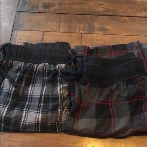 2 pack men's Nautica fleece pajama pants